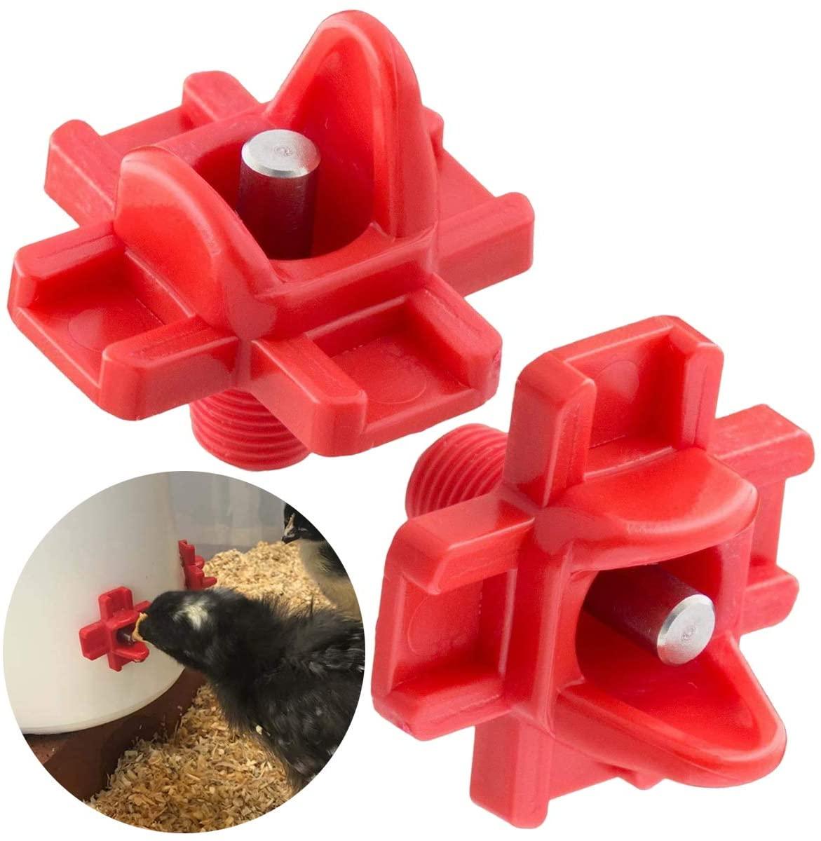 Yolispa 12pcs Horizontal Chicken Nipples Waterer Automatic Poultry Side Mount Drinker