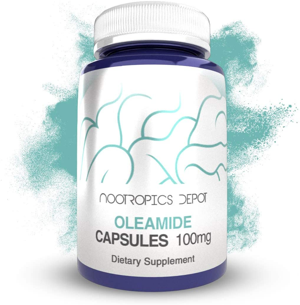 Oleamide Capsules | 100mg | 60 Count | Sleep Support Supplement | Supports Healthy Stress Levels + Promotes Relaxation