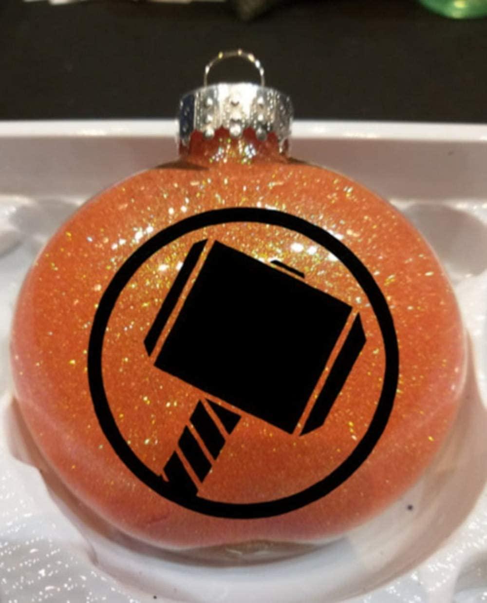 Merch Massacre Thor Oden Loki Comic Book Comics Super Hero Superhero Glitter Holiday Ornament Glass Disc