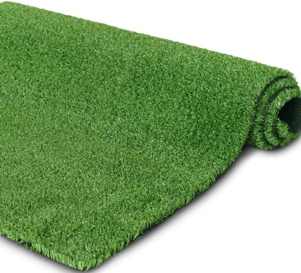 · Petgrow · 4 FT X 13 FT Synthetic Artificial Grass Turf for Garden Backyard Patio Balcony, Drainage Holes & Rubber Backing,Indoor Outdoor Faux Grass Astro Rug,DIY Decorations for Fence Backdrop
