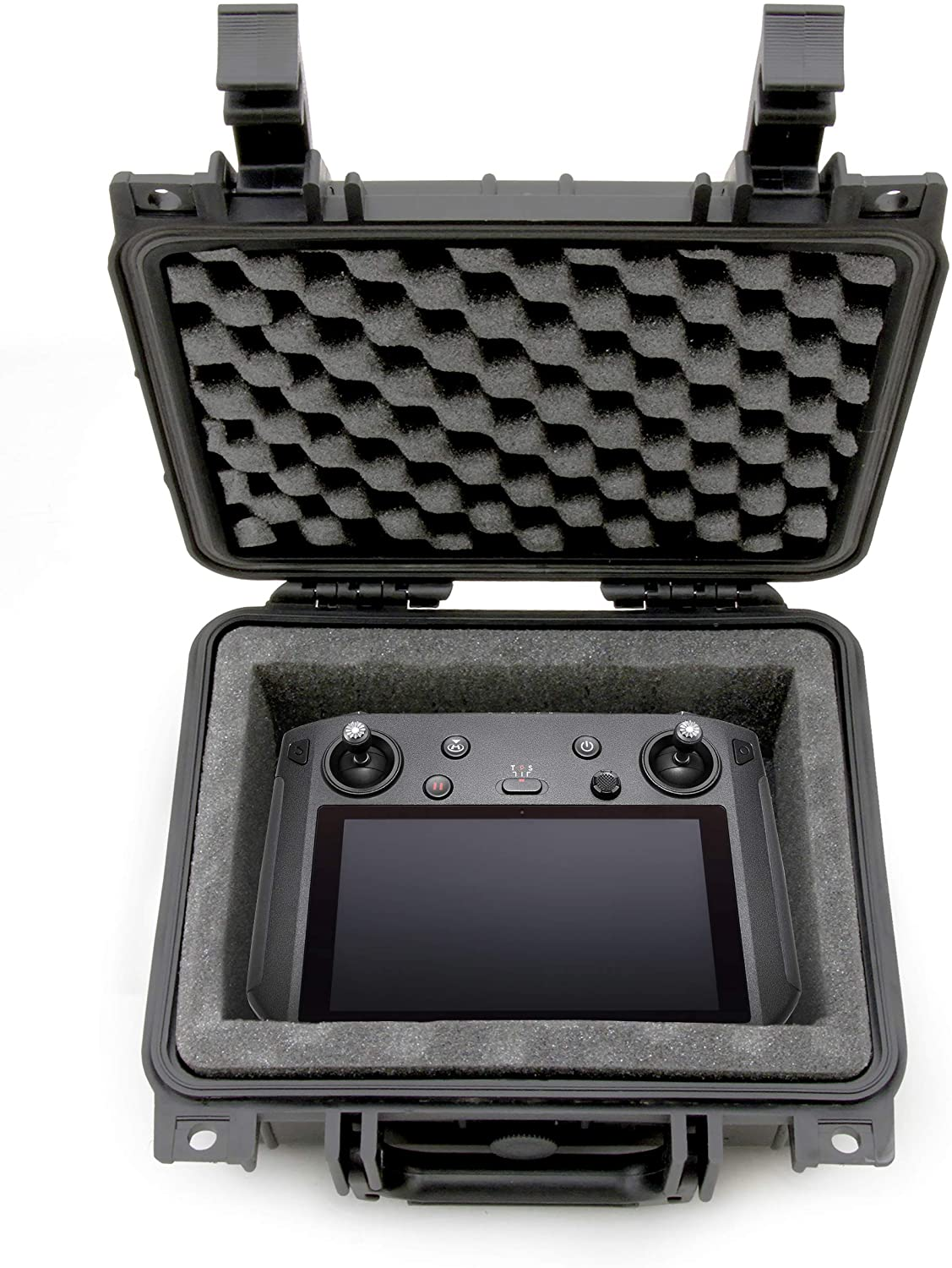 Casematix Waterproof Carry Case Compatible with DJI Smart Controller for Mavic 2 Pro in Impact Absorbing Padded Foam Interior, Includes Case Only