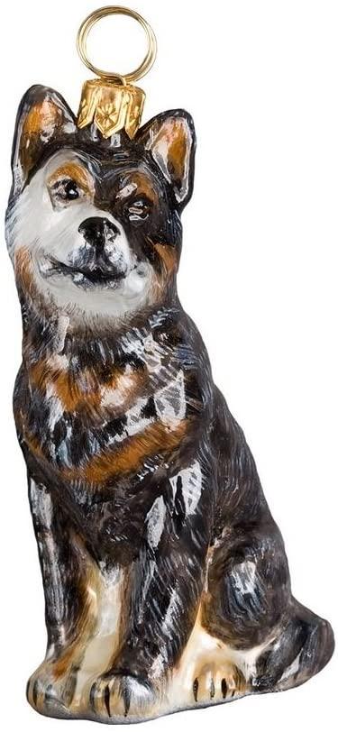 Blown Glass Australian Cattle Dog Ornament