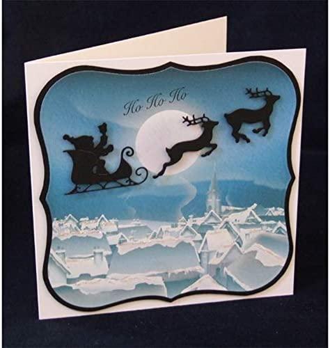 Santa Claus Moose Metal Cutting Dies Stencils for DIY Scrapbooking Embossing Paper Cards Decorative Crafts Supplies Die