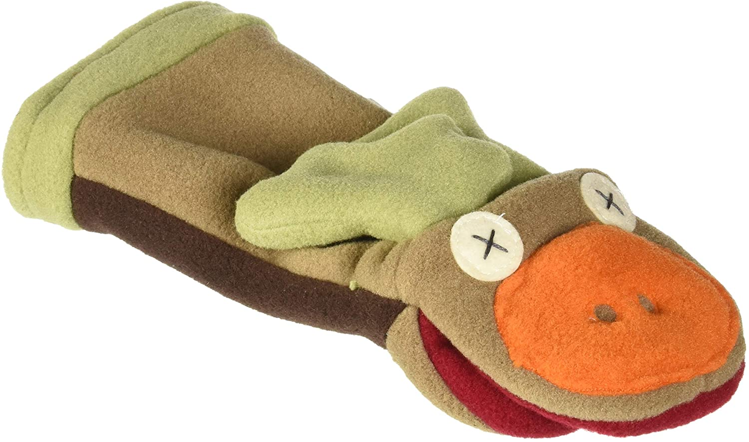 Cate & Levi - Fleece Hand Puppet - Handmade in Canada - Great for Storytelling (Moose)