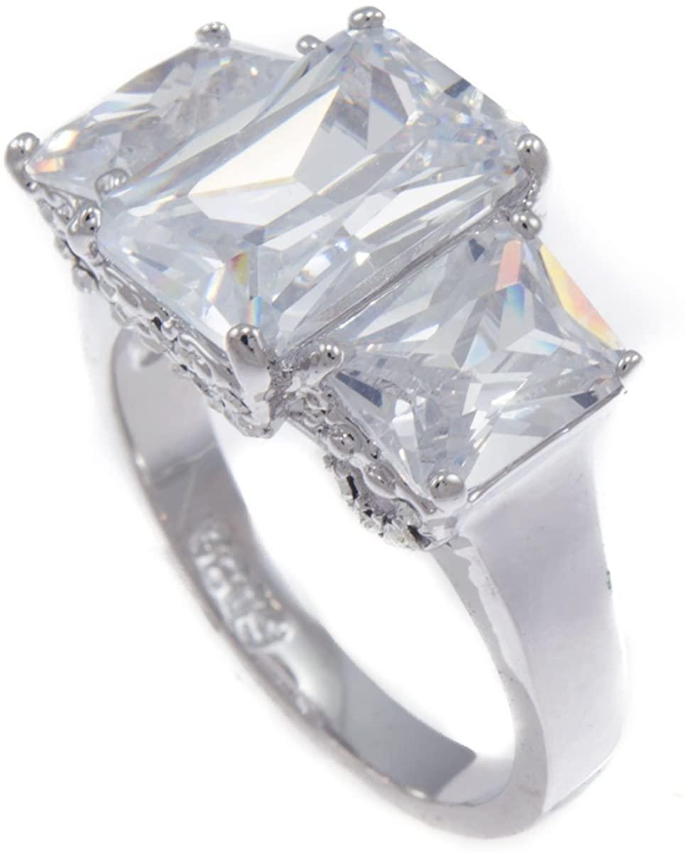 Princess Cut Wedding Bling Iced CZ Ring RL220