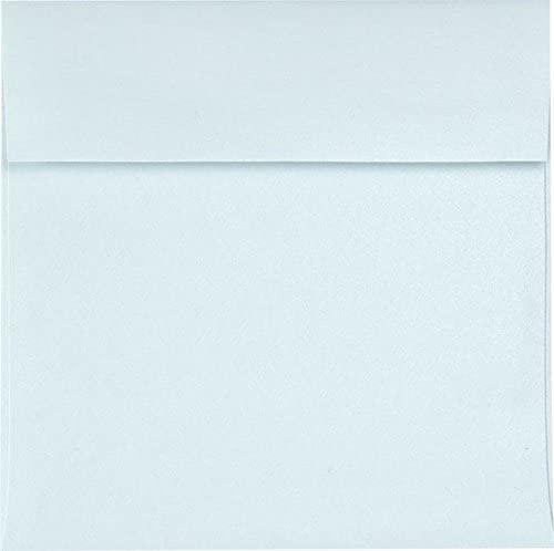 6 1/2 x 6 1/2 Square Invitation Envelopes - Aquamarine Metallic (250 Qty.)