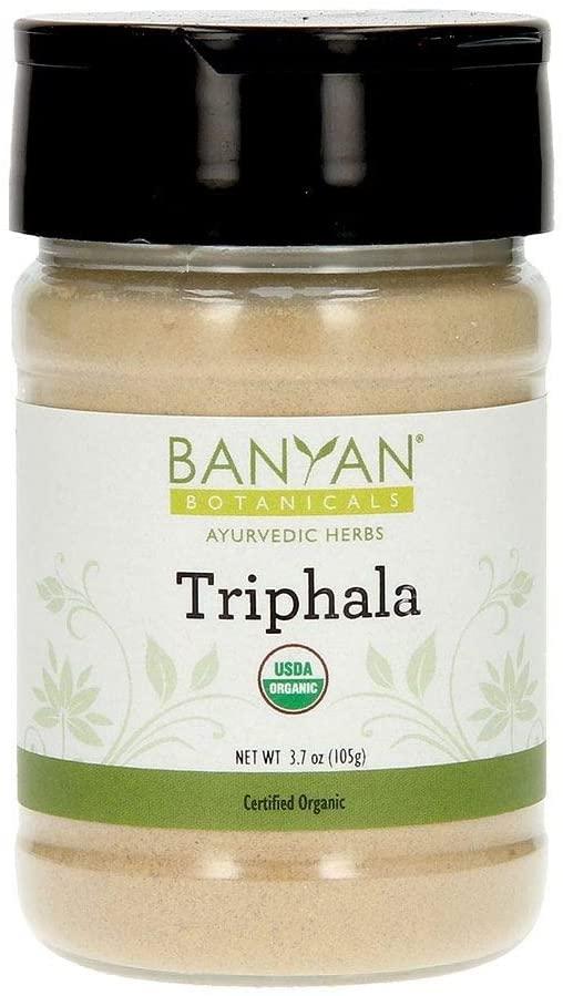 Banyan Botanicals Triphala Powder – Organic Formula of Amla, Haritaki & Bibhitaki – for Daily Detoxifying, Cleansing & Rejuvenation* – Maintains Regularity* – Spice Jar – Non-GMO Sustainably Sourced