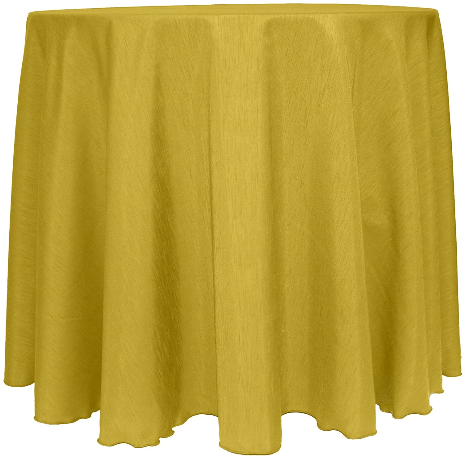 Ultimate Textile -5 Pack- Reversible Shantung Satin - Majestic 114-Inch Round Tablecloth, Gold