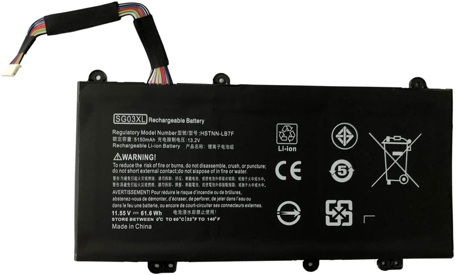 Civhomy Replacement Battery for HP Envy M7-U M7-U009DX M7-U109DX W2K88UA SGO3XL 849314-856 HSTNN-LB7F SG03041XL 849314-850 SG03061XL 849315-850
