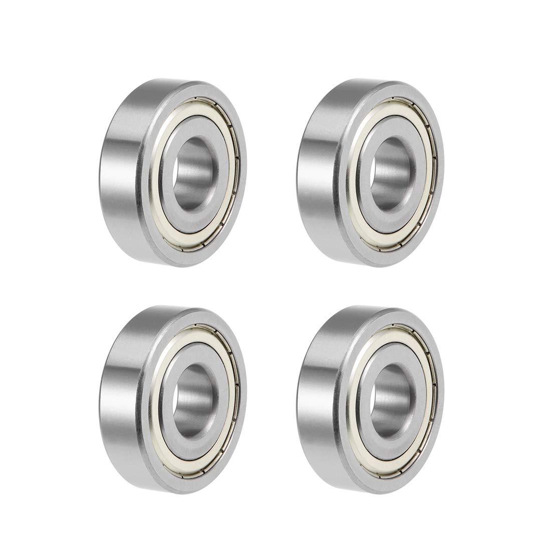 uxcell 1638ZZ Deep Groove Ball Bearings Z2 3/4 X 2 X 9/16inch Double Shielded Chrome Steel 4pcs