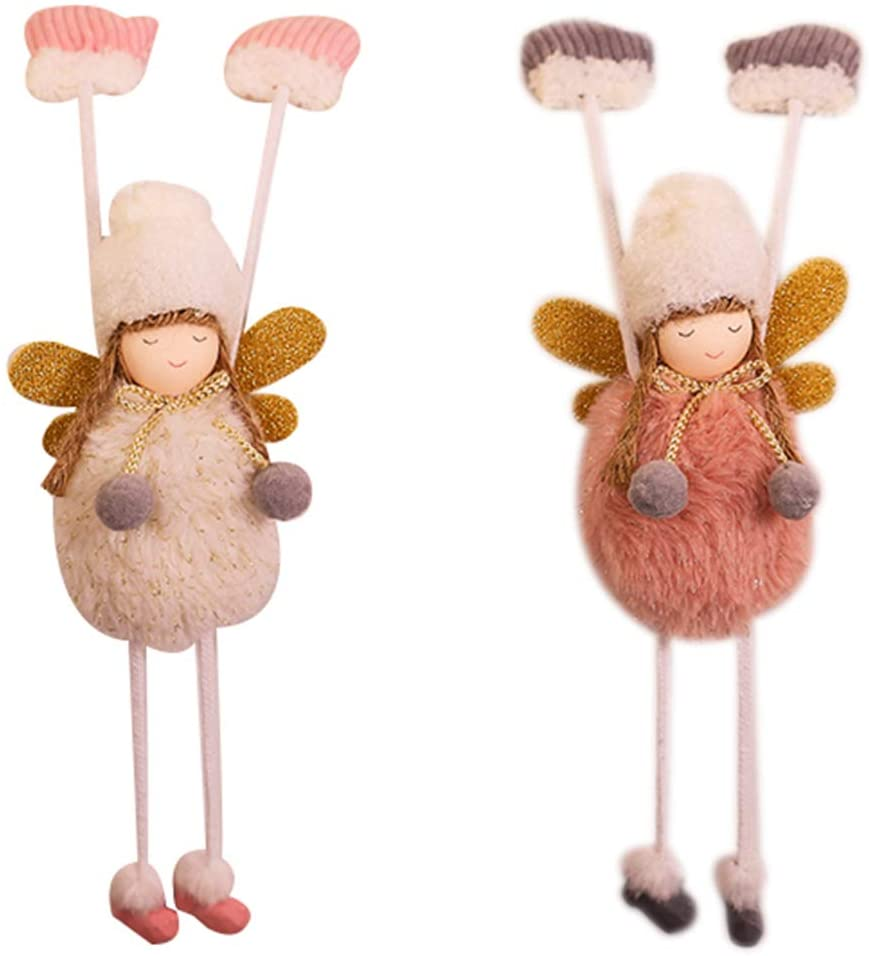 TX Christmas Decorations Plush Glove Angel Pendant Cute Mini Hanging Ornaments (Glove Angel)