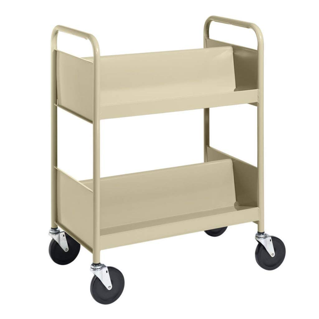 RBS44-06 - Description : Multipurpose Steel Cart - Cart with Two Double-Sided Sloping Shelves, One Flat-Bottom Shelf BioFit Engineered Products - Each
