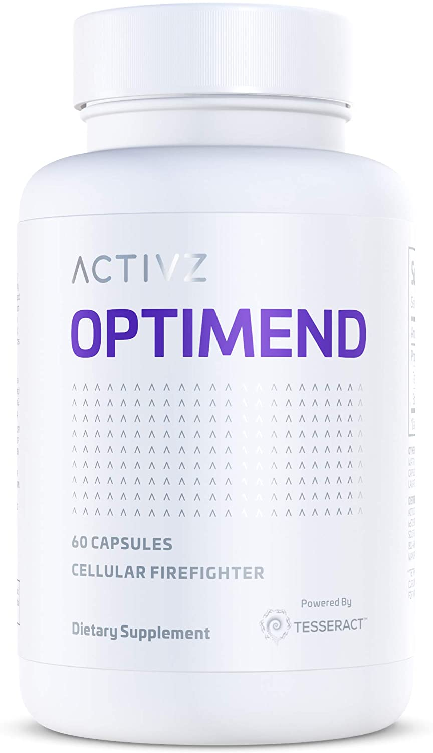 ACTIVZ OPTIMEND - Cellular Firefighter - Patented Delivery System Provides Maximum Absorption - 95% Tetrahydrocurcuminoids Most Active Turmeric Root Sourced Curcuminoid (60 Capsules, 1 Month Supply)