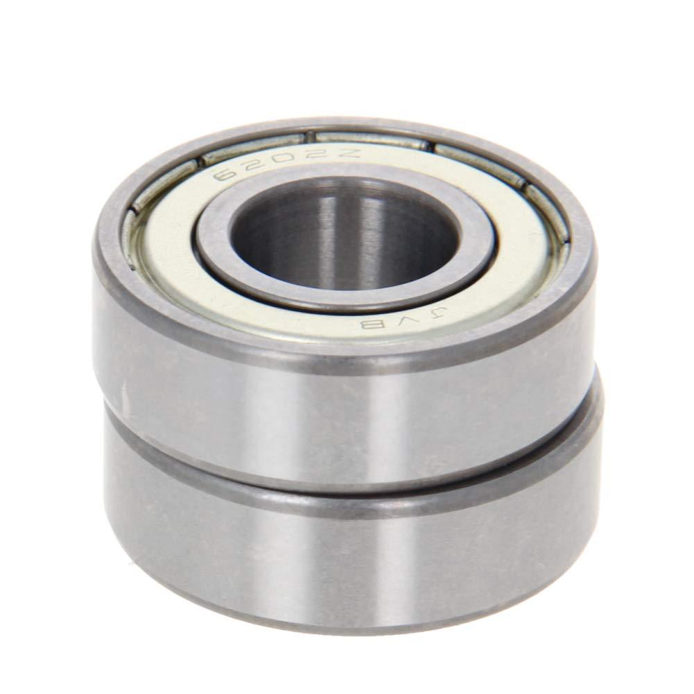 Othmro Deep Groove Ball Bearing 2PCS 6202ZZ,High Carbon Steel Gcr15 Double Shielded Ball Bearings Z2