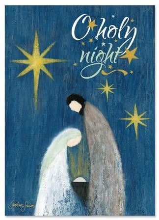O Holy Night Religious Greeting Cards- Set of 18 Holiday Greeting Cards