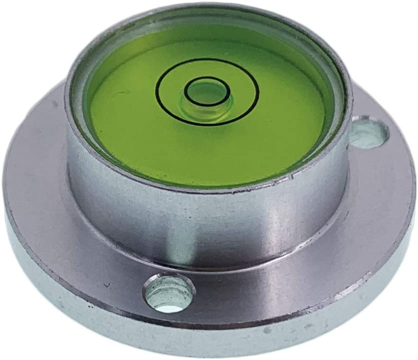 Surface Mounted Aluminium Housing Circular Spirit Level Bubble Level Ball Vials, D30mm Flange plate type