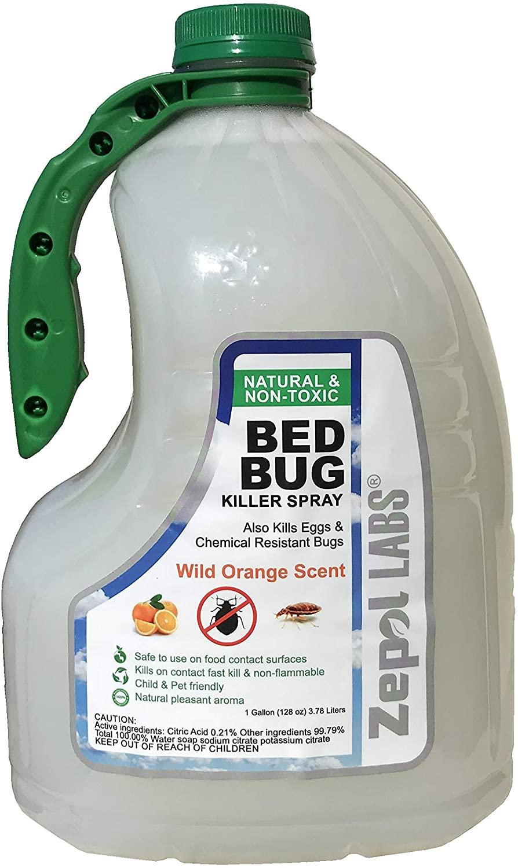 Zepol Labs Bed Bug Killer 128oz, 1 Gallon, Natural Organic Formula (1 Gallon)