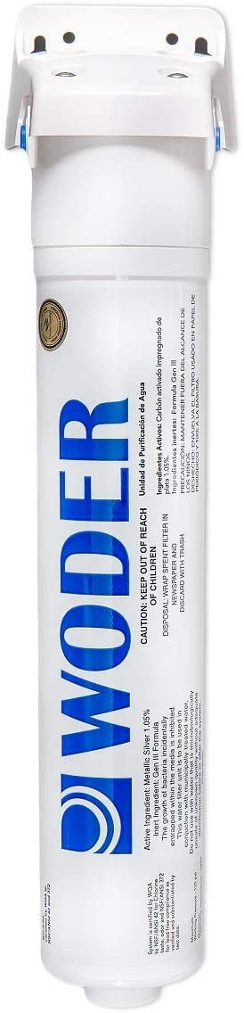 Woder WD-S-8K Refrigerator Water Filter/Ice Maker Filter – WQA Certified - USA Made - With 1/4