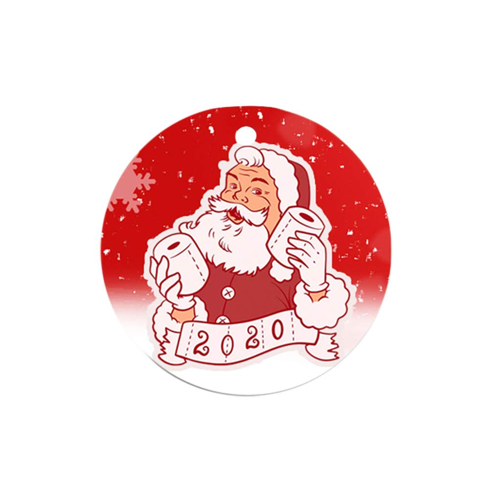 Becoler Handmade Ornaments 1/5/10PCS Christmas Ornaments with mask, 2020 New Cute Santa Clause Wearing Masks Christmas Tree Decoration Holiday Gifts Serenity Home Goods