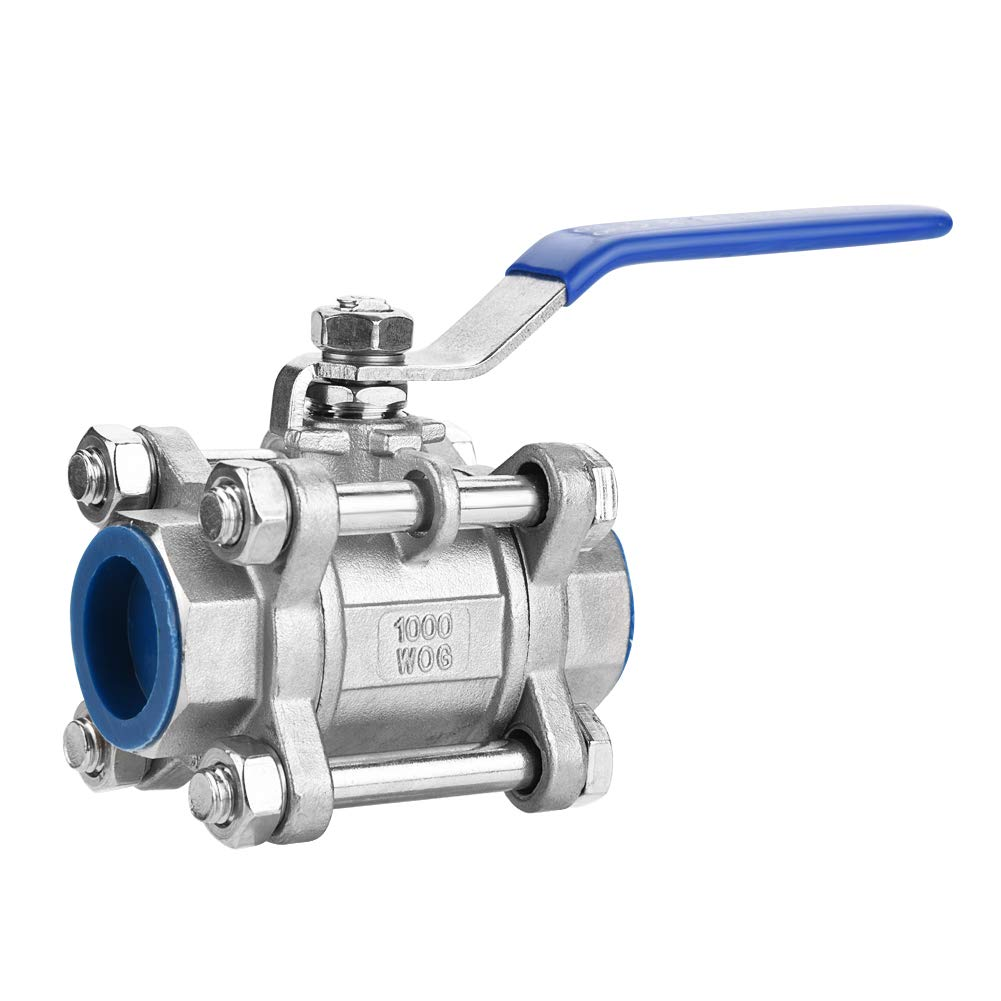 Full Port Ball Valve, 304 Stainless Steel Three-Piece Full Port Female Ball Valve 3/4