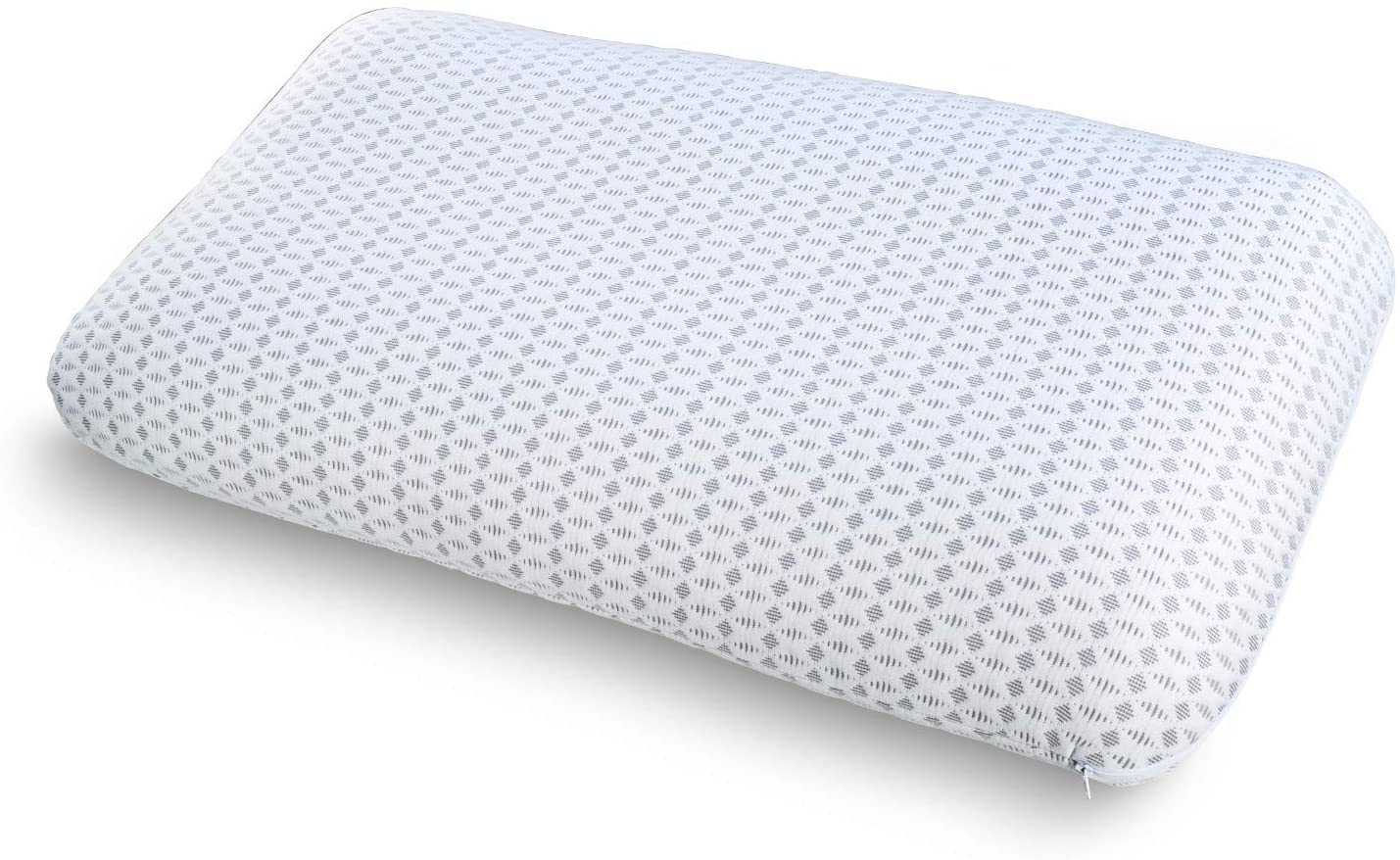 Ambesonne Orthopedic Foam Pillow with Air Pockets and Decorative Cover, Adjustable Oversized Padding Non-Reclaimed Visco%100 Polyester Sham Removable and Washable, 36