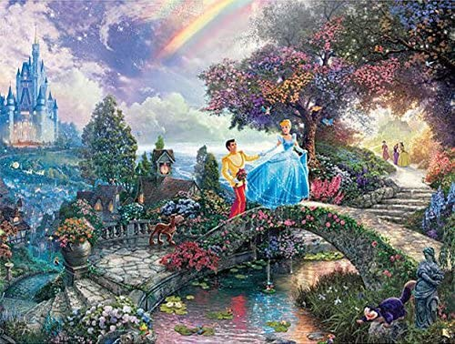 Ceaco Thomas Kinkade Disney Princess Collection Cinderella Jigsaw Puzzle, 300 Pieces