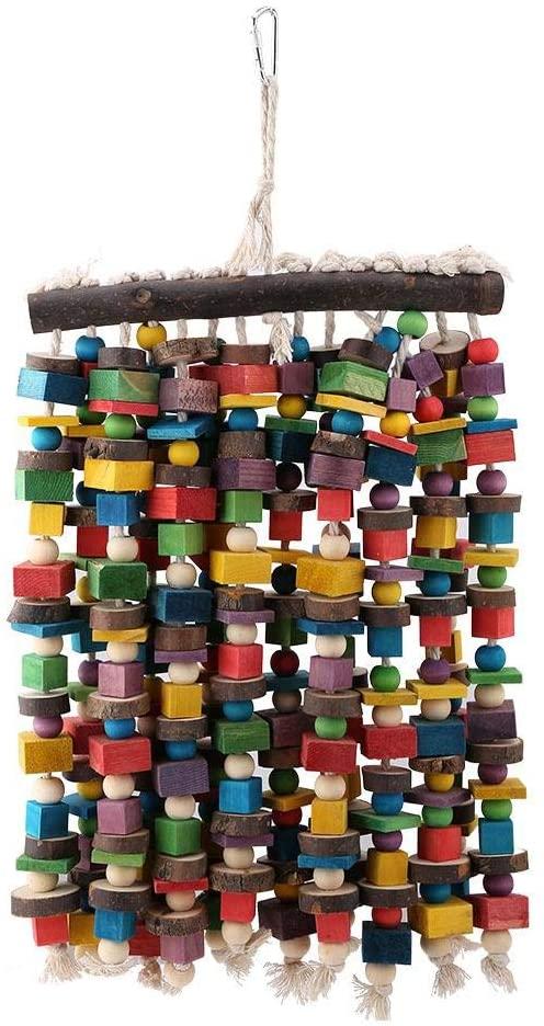 Bird Parrot Swing Toys,Wooden Bird Parrot Chewing Toys-Hanging Bell Bird Cage Toys for Parrots, Parakeets, Cockatiels, Conures, Finches,Budgie,Macaws,Parrots,Love Birds