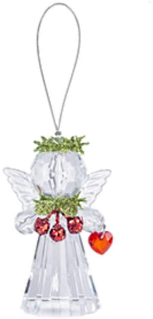 Teeny Mistletoe Angel Ornament - Star Wreath