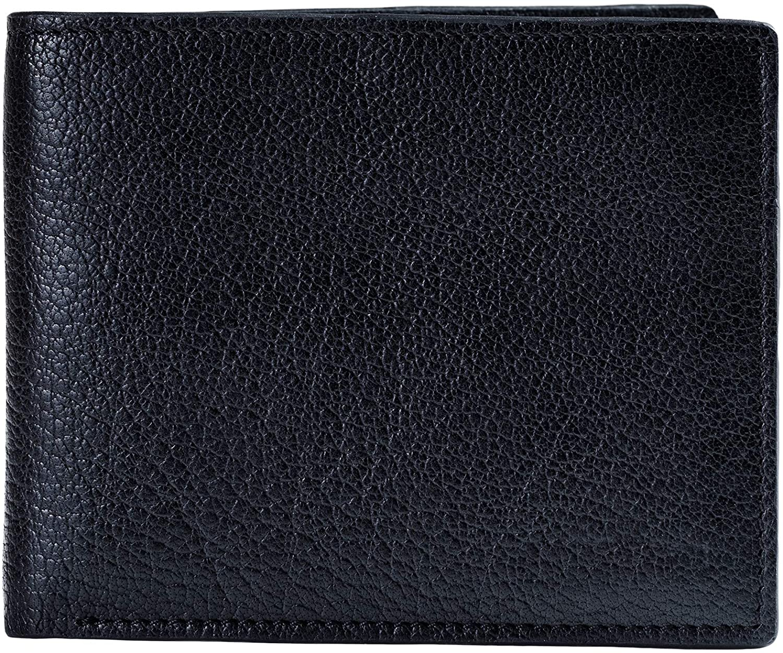 Mens Leather Bifold Wallet, Andrews, RFID Blocking, by Ladderback
