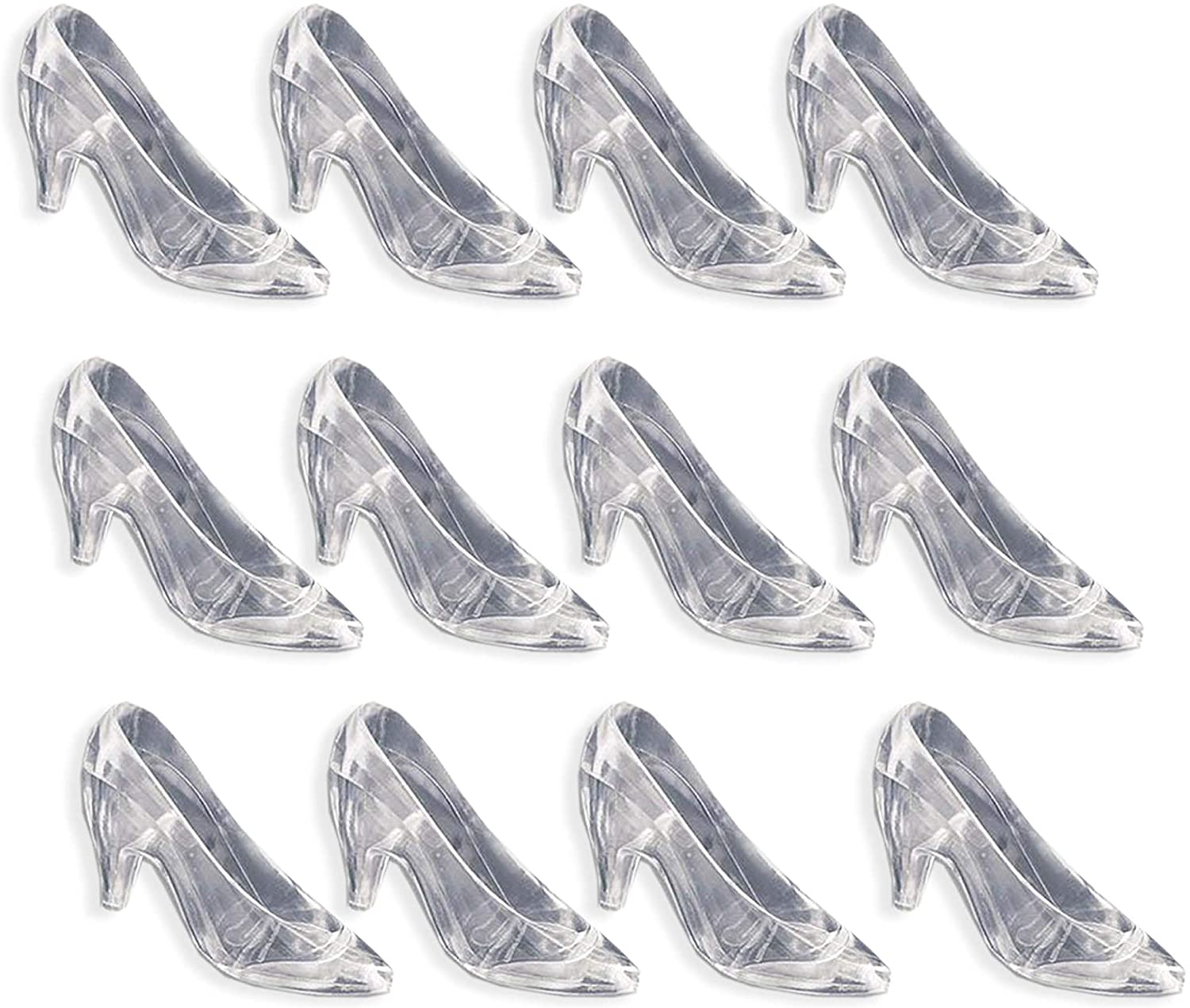 Clear Slippers Cinderella Heels Party Favors Wedding Decoration 12 Pack Plastic Glass Slippers
