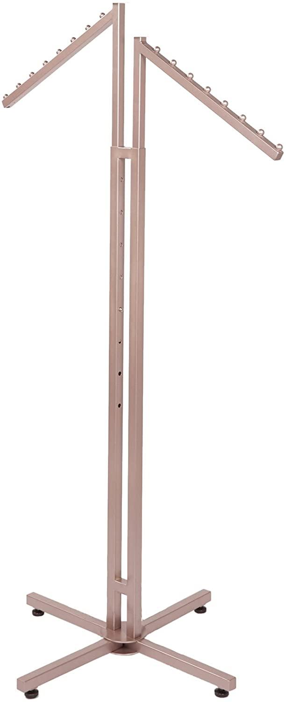SSWBasics Rose Gold 2-Way Clothing Rack with Slanted Arms