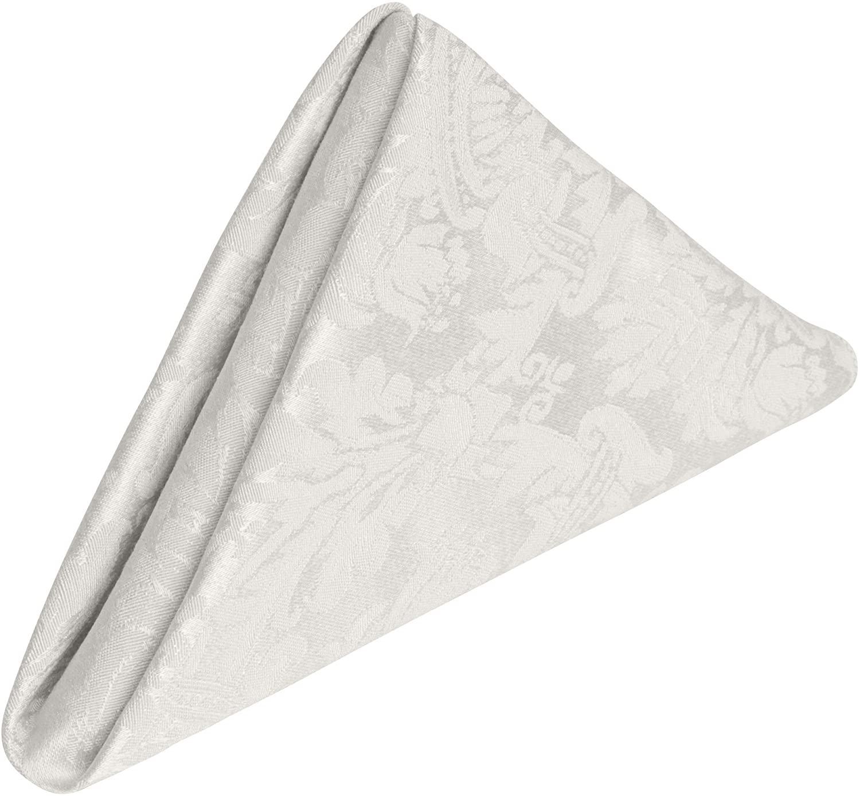 Ultimate Textile -1 Dozen- Saxony 17 x 17-Inch Damask Cloth Napkins White