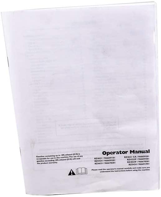 Husqvarna 115384327 Lawn & Garden Equipment Owners Manual Genuine Original Equipment Manufacturer (OEM) Part