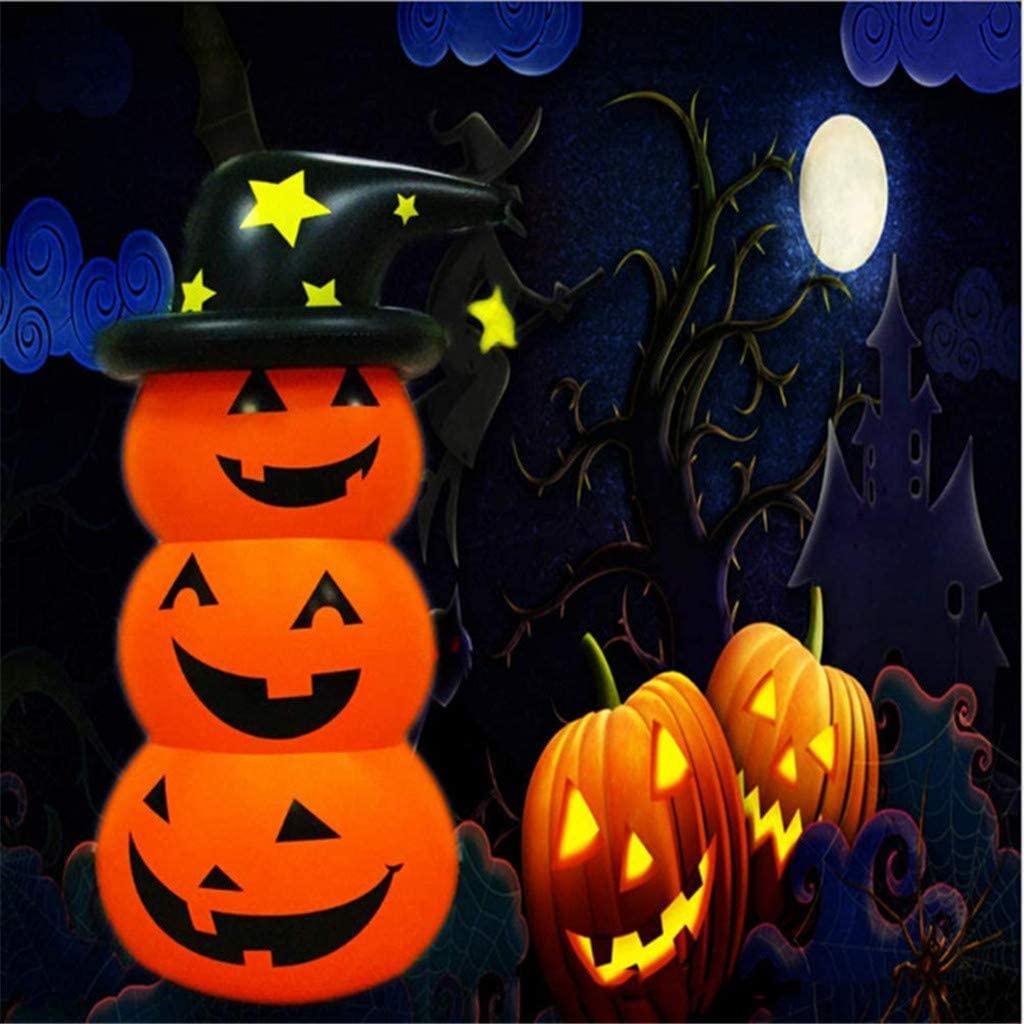 Halloween Inflatables Pumpkin Decoration, 2x 130cm Pumpkin Inflatable Toy Halloween Blow up Decoration Party Decor for Indoor Outdoor (Orange)