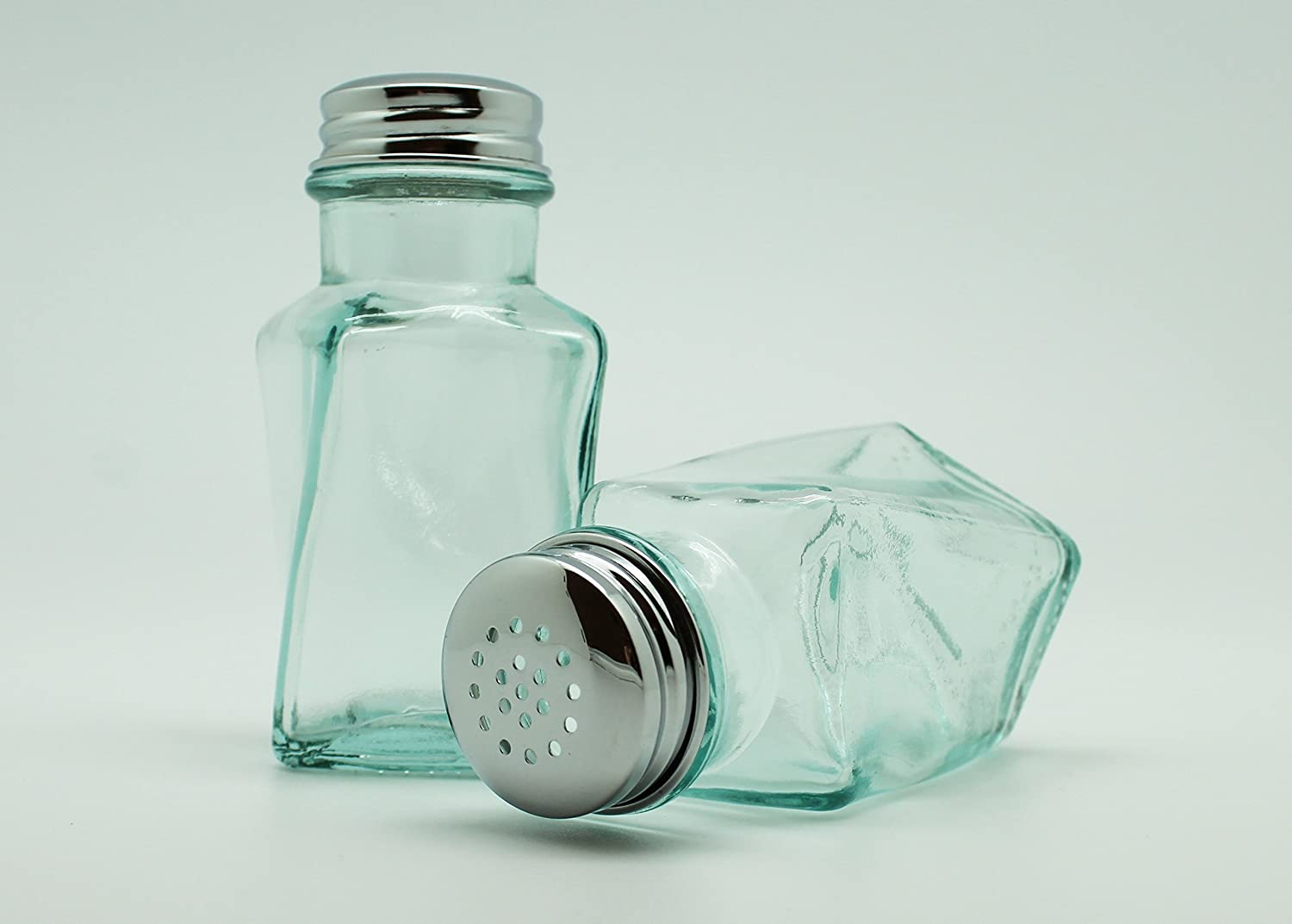 Eco Living Recycled Glass Salt and Pepper Shaker Set Twisted