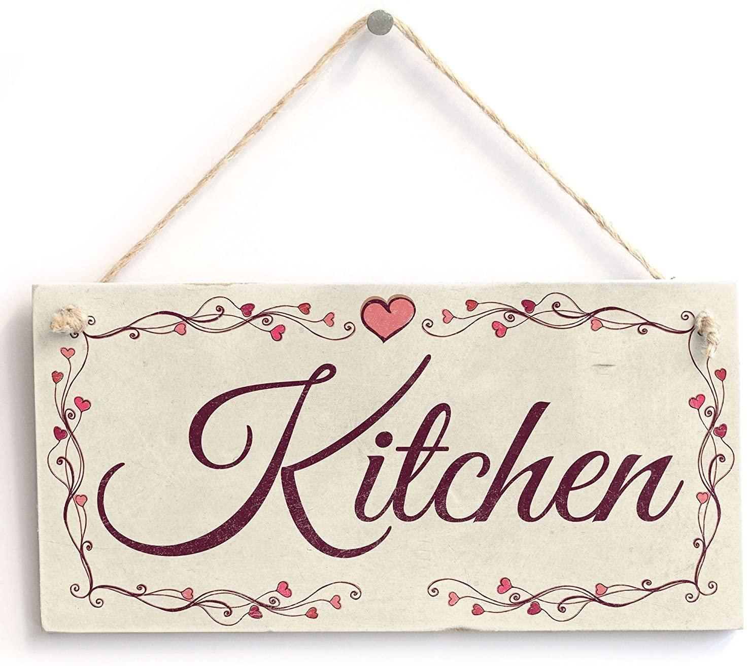 Meijiafei Kitchen - Heart Design Rustic PVC Sign/Plaque 10