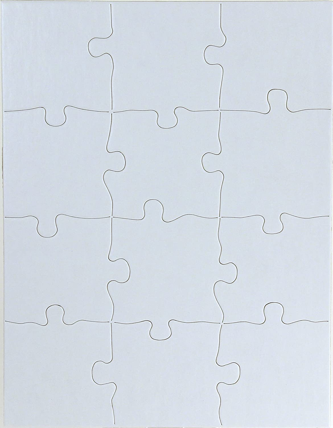Hygloss Products Blank Jigsaw Puzzle – Compoz-A-Puzzle – 8.5 x 11 Inch - 12 Pieces, 100 Puzzles