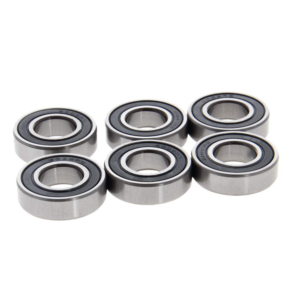Othmro 6002-2RS Ball Bearing 15mm x 32mm x 9mm Double Sealed Deep Groove Bearings High Carbon Steel Z1 (Pack of 6)