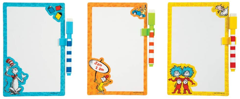 Dr Seuss White Board with Dry Erase Marker 24/Box