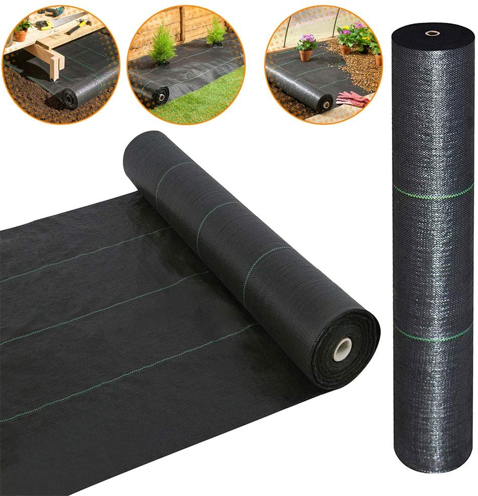 · Petgrow · Heavy Duty Weed Barrier Landscape Fabric for Outdoor Gardens, Non Woven Weed Blockr Fabric - Garden Landscaping Fabric Roll - Weed Control Fabric in Rolls(5FTX250FT)