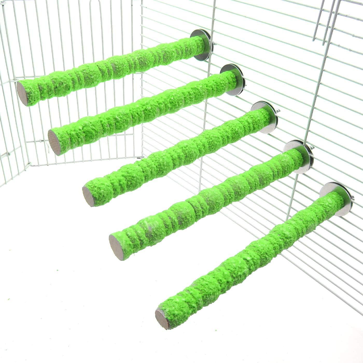 Alfie Pet - Aletris 5-Piece Set Sand Covered Perch for Birds