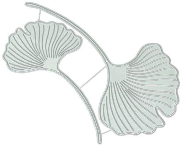 minansostey Ginkgo Leaf Metal Cutting Dies,DIY Scrapbooking Paper Stamping Die Decor