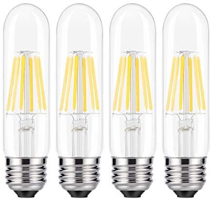 KLED LED Vintage Edison Bulb, Dimmable, T10 2W (20W Equivalent), LED Filament Bulb, 200 Lumen, 2700K (Warm White), Medium Base E26, CRI 85+, 110-120v, UL-Listed (4 Pack) (2)