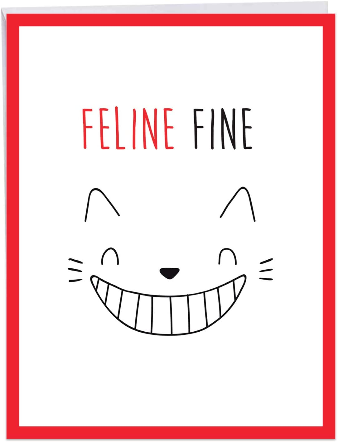 The Best Card Company, Cat Got Your Tongue - Jumbo Get Well Soon Card (8.5 x 11 Inch) - Feel Better Group Card J7183DGWG