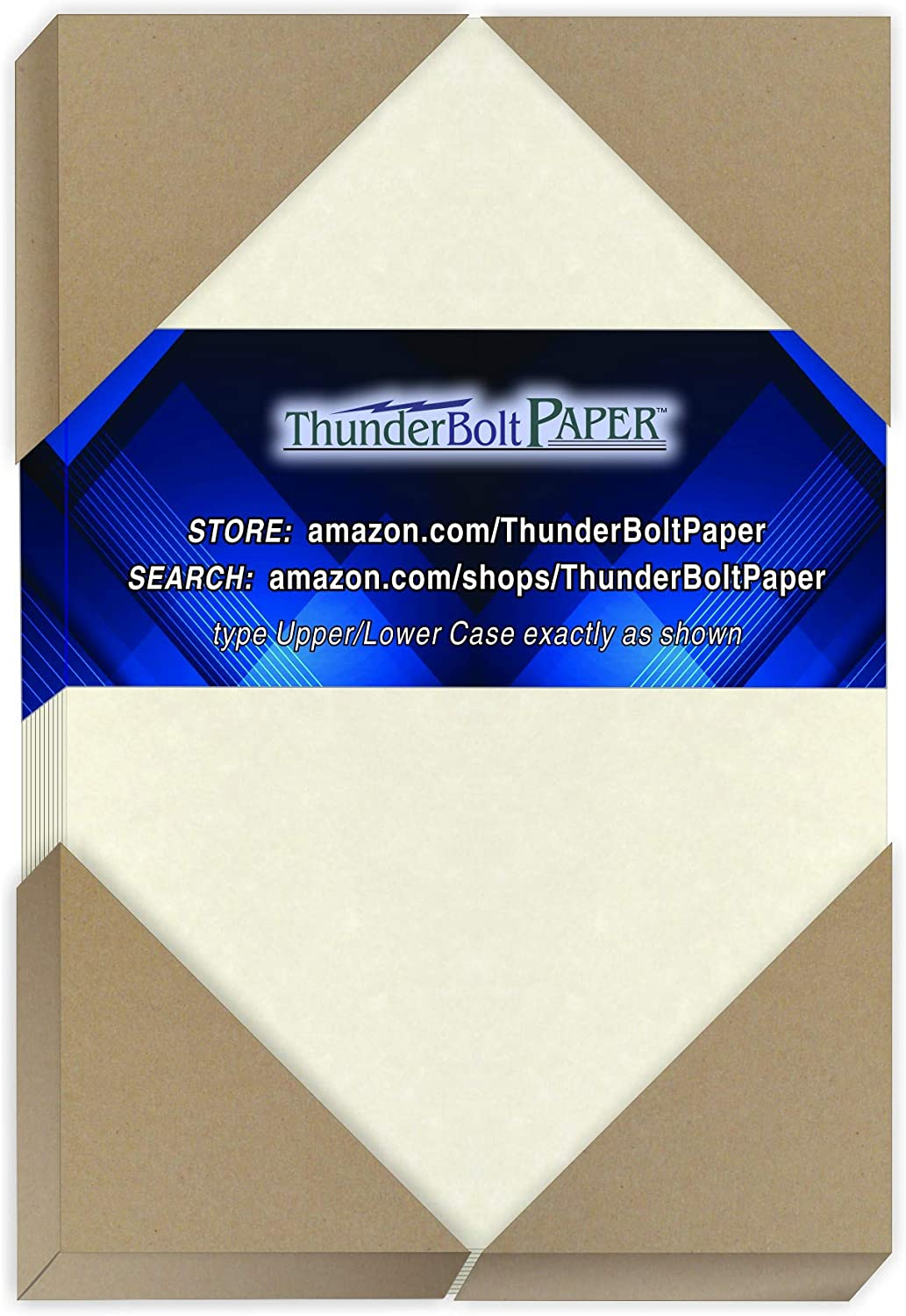 50 White Parchment 65lb Cover Weight Paper - 4