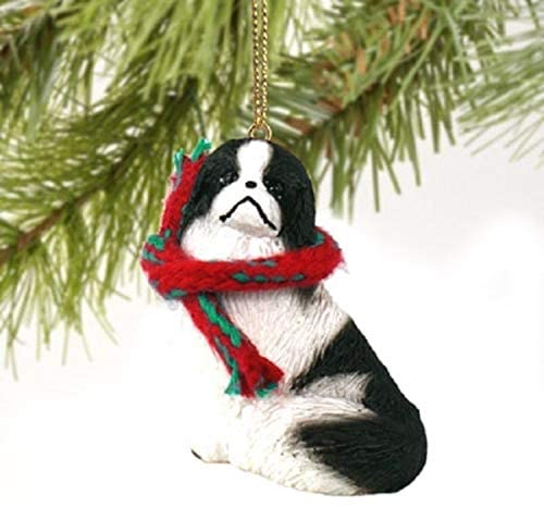 Conversation Concepts Japanese Chin Miniature Dog Ornament - Black & White