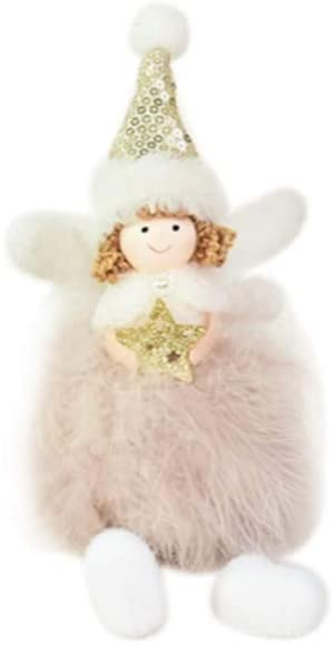 meidexian888 Christmas Decorations Creative Cute Angel Doll Christmas Ornament Christmas Elves Decorations Dolls Nightmare Before Christmas Standing Doll (Color E)