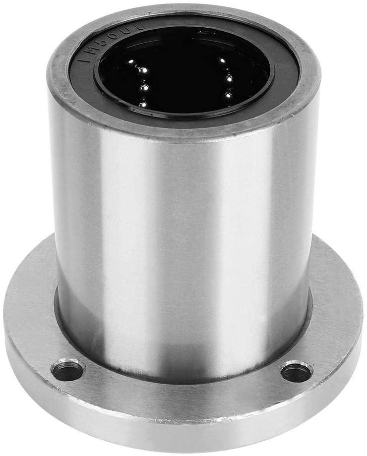 Flange Linear-Motion Bearing Round Bearing Steel Bushing Bearing for Electronic Machinery (LMF50UU)