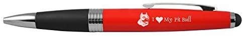 Bullet Ballpoint Pen -I love my Pit Bull-Red