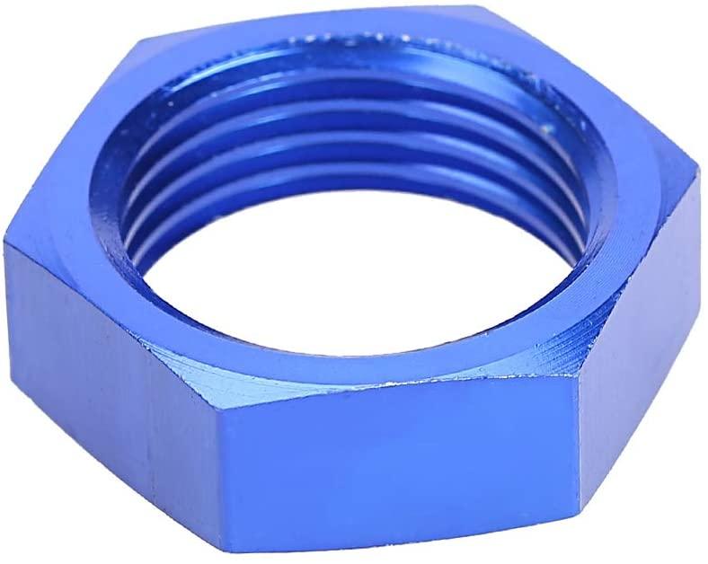 Suuonee Aluminum Tube Nut Aluminum Alloy Material Universal for Tubing Fuel Tank (Blue)
